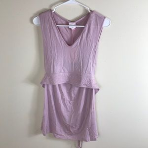 NWT Boob Design Tie Back Tank Top Maternity